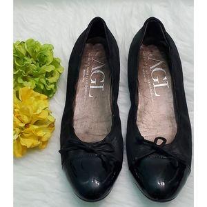 AGL  Black flats  Size 38.